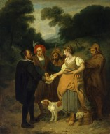 Jaquenetta Approaching Sir Nathaniel with Berowne's Letter