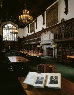 FSL Interior: Old Reading Room with Two First Folios in foreground 2000
