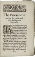 The art of stenographie, teaching by plaine and certaine rules, to the capacitie of the meanest, and for the vse of all professions, the way of compendious writing...