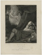 Richard IIId., act 5 scene 3, in the tent, Richard asleep, ghosts of persons he had murdered [graphic] / painted by J. Opie, R.A. ; engraved by W. Sharp.