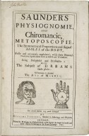 Saunders physiognomie, and chiromancie, metoposcopie...