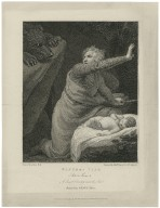 Winter's tale, act 3, scene 3, a desert country near the sea, Antigonus, Child, & bear [graphic] / painted by J. Opie, R.A. ; engraved by J. Hall.