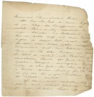 Autograph letter signed from Salomon Hermann Mosenthal, Vienna...