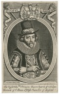 The right honble. Sr. Francis Bacon, Baron of Verulam, Viscount of St. Albans, Ld. high chancellor of England [graphic] / F.H. van Houe, sculp.