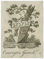 [Bookplate of Carrington Garrick] [graphic] / Pemberton sculp.