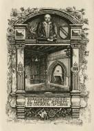 Shakespeare Memorial Library, Stratford on Avon, ex libris [graphic] / Monk, 1895.
