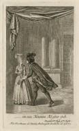 In ein nonnen kloster geh, Hamlet, 3ter aufz. 9ter auftr. [i.e. act III, scene 1] Herr Brockman als Hamlet, Mademoiselle Doebbelin als Ophelia [graphic] / D. Chodowiecki, inv. & sc.