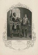 Mr. G.V. Brooke as Othello and Mr. James Bennett as Iago ... Othello, act 3, sc. 3 [graphic] / engraved from a daguerreotype by B. Holl.