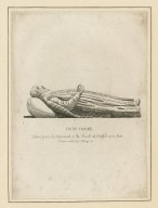 John Combe, taken from his monument in the church of Stratford upon Avon [graphic] / drawn & etched by S. Harding 1793.