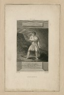 Mr. Cooke [as] Timon of Athens: Tim.: Let me look back upon the, O thou wall ... act IV, scene 1 [graphic] / drawn by De Wilde ; engraved by Warren.