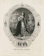 Miss Julia Dean as Beatrice [in Shakespeare's] Much ado about nothing ... [graphic] / engd. by C.E. Price.