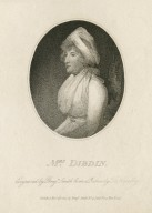 Mrs. Dibdin [graphic] / engraved by Benjn. Smith from a picture by T. Kearsley.