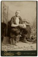 Best wishes of Owen Fawcett, Nov. 21, 1891 [as the gravedigger in Shakespeare's Hamlet] [graphic] / Baker.