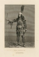 Edwin Forrest as Metamora [in Stone's Metamora] [graphic] / J. Bannister [sculp.].