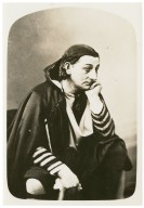 """George L. Fox (famous clown, burlesquing Edwin Booth as """"Hamlet"""") [graphic]."""