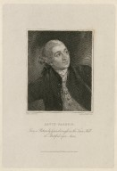 David Garrick [graphic] / from a picture by Gainsborough in the town hall at Stratford upon Avon ; drawn by T. Uwins ; engraved by W. Sharp.