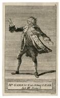 Mr. Garrick als König Lear [in Shakespeare's King Lear], act III, scene 1 [graphic] / Liebe sc.