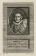 Garrick dans le role de Richard III, tragédie de Shakespear, act 5, scé. 7 [graphic] / Hogarth pinxit ; A. Romanet sculp.