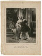 L'Artiste; Melles: Judith et Julie Grisi dans les roles de Roméo et de Juliette: I Capuleti ed i Montecchi [by Bellini] [graphic] / A. Deveria [sculp.].