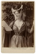 """Mrs. Kendal as Mistress Ford in """"The Merry Wives of Windsor"""" [by Shakespeare] [graphic] / Window & Grove."""