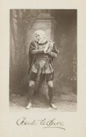 Charles LeClercq [as Gremio in Shaekspeare's Taming of the shrew] [graphic].