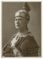 Mantell as Brutus in [Shakespeare's] Julius Caesar. To William Winter Yours R.B. Mantell, Brutus [graphic].