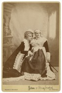 [Adelaide] Neilson [as Juliet,] Mrs. Judah [as the Nurse in Shakespeare's Romeo and Juliet, act II, 5] [graphic] / Bradley & Rulofson.