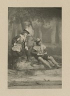 [Ada Rehan and John Drew as Rosalind and Orlando in Augustin Daly's production of Shakespeare's As you like it, Act III, scene 2, 1898] [graphic].