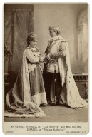 "Mr. George Rignold as ""King Henry V,"" and Mlle. Berthe Giradin [sic] as ""Princess Katharine"" [in Shakespeare's King Henry V, V, 2] [graphic] / Sarony, 680 Broadway, N.Y."