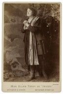 """Miss Ellen Terry as """"Imogen"""" [in Shakespeare's Cymbeline, 2 different poses and costumes] [graphic] / Window & Grove."""
