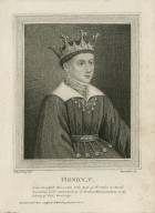 Henry V, from a beautiful illumination at the head of the preface to a French translation of the Golden book, &c, by Cardinal Bonnaavantura [sic] ... [graphic] / S. Harding, del. ; I. [sic] Parker, sc.