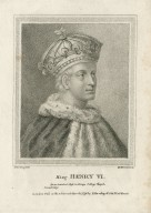 King Henry VI, from painted glass in King's College Chapel, Cambridge [graphic] / S. Harding, del. ; W. N. Gardiner, sc.