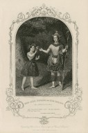 Miss Julia Harland and Miss Conquest as Oberon and Puck... Midsummer night's dream, act 2, sc. 2 [i.e. 1] [graphic] / engraved by J. Moore from a daguerreotype by Paine of Islington.