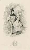 As you like it, act III, sc. 3 [Touchstone and Audrey] [graphic] / [Joseph Kenny Meadows].
