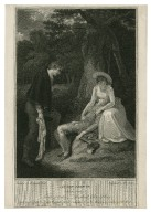 As you like it, act 4, scene 3, Forest of Arden--Rosalind, Celia, & Oliver [graphic] / painted by R. Smirke R.A. ; engraved by W.C. Wilson.