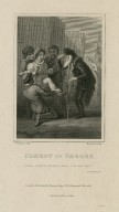 Comedy of errors, Peace, doating wizard, Peace, I am not mad ; act 4, scene 4 [graphic] / Thurston, del. ; Rhodes, sculp.