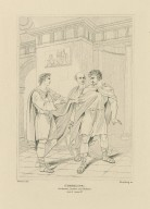 Cymbeline, act 2, scene 4, Rome, an apartment in Philario's house, Posthumus, Philario, and Iachimo [graphic] / painted by R. Westall, R.A. ; engraved by Starling.
