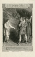Cymbeline, Imogen: Good masters, harm me not, act IV, scene II [i.e., act III, scene 6] [graphic] / painted by Westall ; engrav'd by C. Heath.