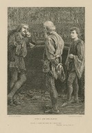 Hamlet and the players ... I heard thee speak me a speech once, Hamlet, Act II, scene II [graphic] / Drawn by A. Hopkins ; engraved by C. Roberts.