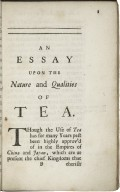 An essay upon the nature and qualities of tea...