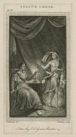 Julius Caesar, act IV [sc. 3]: [Brutus and the ghost of Caesar] I am thy evil genius Brutus [graphic] / E. Edwards, del. ; Js. Basire, sculp.