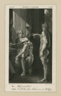 Julius Caesar, act IV, sc. III, Br.: Why com'st thou? Ghost: To tell thee, thou shalt see me at Phillippi [graphic] / [Henry] Fuseli, delt. ; C. Warren, scpt.
