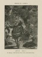 Henry IV, part I, act II, scene 2, P. Henry: He lards the lean earth as he walks along [graphic] / [John Thurston ; engraved by Allen Robert Branston].