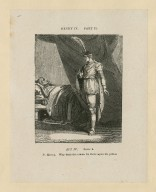 Henry IV, part II, act IV, scene 4 [i.e. 5] : P. Henry: Why doth the crown lie there upon his pillow [graphic] / [John Thurston] ; engraved by Allen Robert Branston.