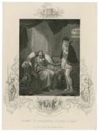 Henry IV, reproving Prince Henry [King Henry IV part 2, act 4, scene 5] [graphic] / R. Smirke, R.A. ; J. Rogers.