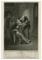 First part of King Henry VI, act 2, scene 5, a room in the tower, Mortimer, jailors & Richard Plantagenet [graphic] / painted by Willm. Hamilton, R.A. ; engraved by Isaac Taylor, junr.