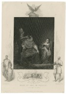 Joan of Arc in prison: King Henry the Sixth [part I, act V, scene 4 [graphic] / Painted by Delaroche ; engraved by J. Rogers.