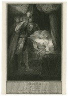 King Henry VI, second part, act III, scene 3, Cardinal Beaufort on his death bed [graphic] / painted by Sir Joshua Reynolds ; engraved by Andrew Gray.