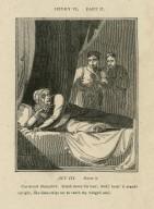 Henry VI, part II, act III, scene 3, Cardinal Beaufort: Comb down his hair; look! look! it stands upright ... [graphic] / [John Thurston] ; engraved by Allen Robert Branston.