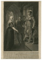 Third part of King Henry VI, act 3, scene 2, King Edward, Gloster, Clarence, & Lady Elizabeth Grey [graphic] / painted by W. Hamilton, R.A. ; engraved by T. Holloway.